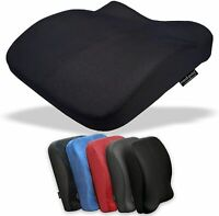 Back Seat Cushion Memory Foam Car Office Chair Height Booster Lumbar Support UK