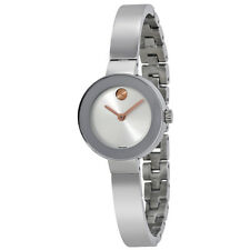 Movado Bold Silver Sunray Dial Stainless Steel Case and Band Unisex Quartz