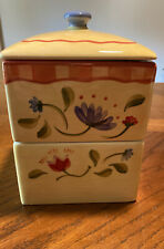 Pfaltzgraff NAPOLI 3pc Coffee Tea Canister, Hand Painted