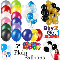 "30 X Latex PLAIN BALOON BALLONS helium BALLOONS 5"" inch Party Birthday Wedding"