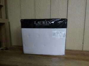 $255.00 Lauren Ralph Lauren Graydon Cotton Full/Queen Quilt, White