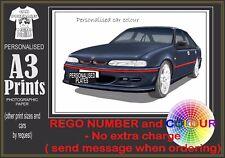 95-97 VS SS COMMODORE A3 ORIGINAL PERSONALISED PRINT POSTER CLASSIC RETRO CAR