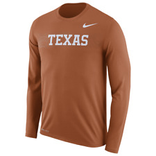 Nike Dry Dri-fit Anti-odor Texas Longhorns Long Sleeve Tee Shirt Jersey Mens 2xl