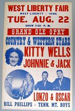 Original Grand Ole Opry Poster, 1950: Kitty Wells, Tennessee Mountain Boys...