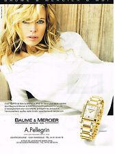 PUBLICITE ADVERTISING 045  2006  BAUME & MERCIER avec KIM BASSINGER montre DIAMA