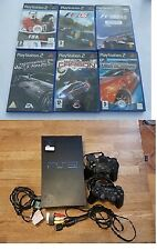 Sony Playstation 2 gaming console, two controllers and video game bundle - P