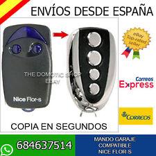 ★ MANDO GARAJE COMPATIBLE COPIA NICE FLOR-S - FLOR S FACIL COPIA NUEVO CONTROL ★
