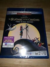 New Disney The Nightmare Before Christmas Sing-Along Ed. Blu-ray + Digital HD