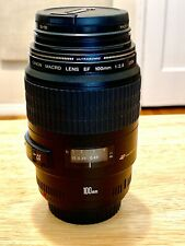 Canon EF 100mm f/2.8 Macro USM Lens **PLUS** a B&W Protective UV Filter