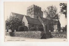 Sandwich St Clements Church Kent England Vintage Rppc Postcard Us051