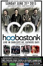 Hoobastank/The X Kids/Year Of The Locust/Divot 2015 Endicott Concert Tour Poster
