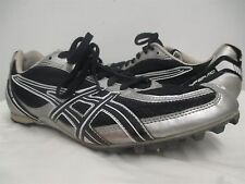 Asics Hyper MD Metallic Silver black track spikes cleats shoes 10.5/ 44.5eur#127