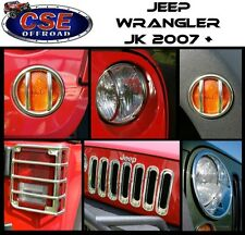 Stainless 17 Pc Euro Light Guard Set Jeep Wrangler JK 07-16 12496.11