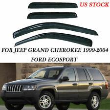 For Jeep Grand Cherokee 99-04 Window Visor Vent Rain Wind Guard Shades Deflector (Fits: Jeep)