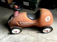 Vintage Radio Flyer Little Red Roadster Metal Push Race Car #8 Kids Toy NICE!