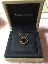 AUTH Van Cleef & Arpels Collier Vintage Alhambra Onyx en or jaune 18 carats
