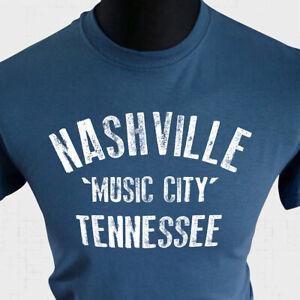 Nashville Music City Tennessee T Shirt Country Western Music Memphis Cool Indigo
