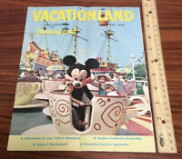 Vintage 1960 Disneyland Vacationland Magazine (Summer 1960) Disney Mickey Mouse
