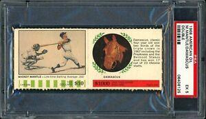 1968 American Oil Panel Mickey Mantle / Damascus PSA 5 EX Yankees HOF