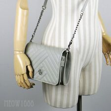 313889168617 New Tory Burch ALEXA Concrete Grey Combo Crossbody Purse Bag Clutch 50644  $428
