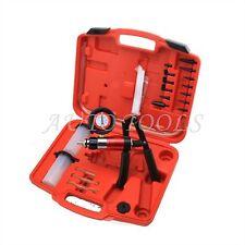 Hand Held Vacuum Pump Test Brake Bleeding Bleeder Car Garage Tool Kit Set