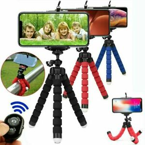Universal Mobile Phone Holder Tripod Stand For Phone Camera Samsung with Remote