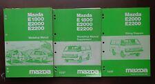 Mazda E1800 E2000 E2200 Workshop manual / Workshop m supplement/ Wiring diagram
