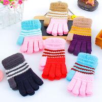 Kids Children Warm Knitted Gloves Winter Thick Full Mitten Finger Protector HOT