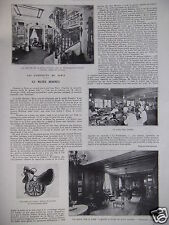ARTICLE DE PRESSE 1930 HERMES LES ATELIERS ET LE MUSÉE SELLERIE MAROQUINIER