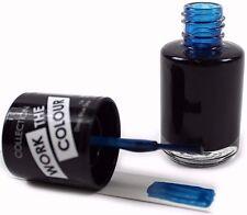 Collection 2000 Work The Colour Nail Varnish Polish Deep Blue Sea Shade Gloss UK