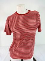 CABIN CREEK WOMENS RED & WHITE STRIPED POLY COTTON  KNIT TOP SIZE PM