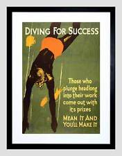 PROPAGANDA POLITICAL WORK DIVER PRIZE USA BLACK FRAMED ART PRINT B12X5802