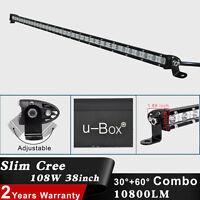 Slim 38Inch 108W  LED Light Bar Flood Spot Combo Offroad SUV Jeep Work Lamp