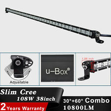 Slim 38Inch 108W Cree LED Light Bar Flood Spot Combo Offroad SUV Jeep Work Lamp