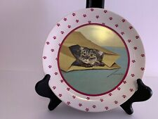 1984 Lowell Herrero Set Of 4 Adorable Cat Plates, Vandor, Made In Japan