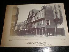 Old photograph Dartmouth Butter Walk shops 1895