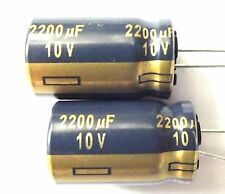 2200uF 10v 105c LOW ESR dimensioni 12,5 mmx20mm Panasonic EEUFC1A222 x2pcs