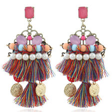Stud Pearl Dangle Drop Elegant Jewelry Fashion Long Tassel Earrings Fringe Ear