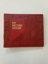 Vintage Red My Record House 45 RPM Record Wallet Holder Book Case Holds 10 45s