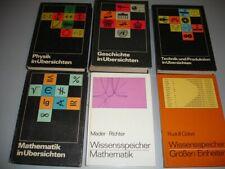 6x Wissensspeicher ... in Übersichten Mathematik Geschichte Technik Physik DDR