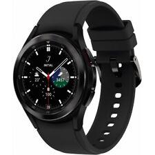 Samsung Galaxy Watch4 Classic 42mm Edelstahlgehäuse mit Sportarmband - Schwarz (Bluetooth)