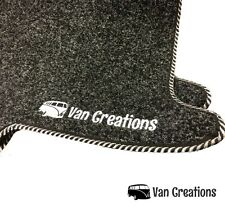 Van Creations Front Cab Mat Set for VW T5 with Double Passenger Seat -Non Swivel