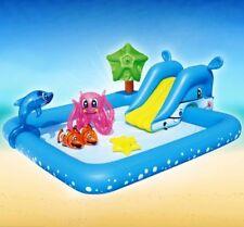 New Bestway Inflatable Fantastic Aquarium Entertainme Play Pool 239*206cm #53052
