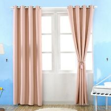 Hot Blackout Curtain Fabric Finished Thick Curtain Window Eyelet Drape Decor 1PC