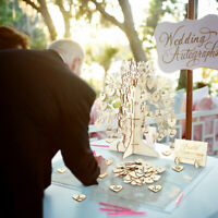 Wooden Rustic Wedding Wish Tree Guest Book Alternative Guest Wishes Party BirthA