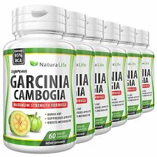 6 BOTTLES PURE GARCINIA CAMBOGIA 3000mg Daily 95% HCA Weight Loss Diet Pills
