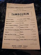 Partition Tambourin J Ph Rameau Violon Solo