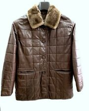 Vittorio Forti Jacket Woman Leather Cowhide Size 42 26026