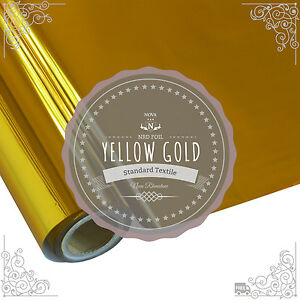 """NRD Textile Thermo Heat Transfer Foil """"YELLOW GOLD"""" 12""""X 25' ft. Free Shipping!"""