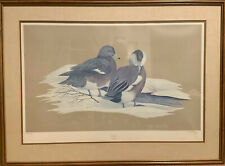Vtg Art LaMay Winter Wigeons Duck Print Waterfowl Fest Seal Signed Number 85/300